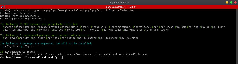 1.- Install lemp on OpenSUSE