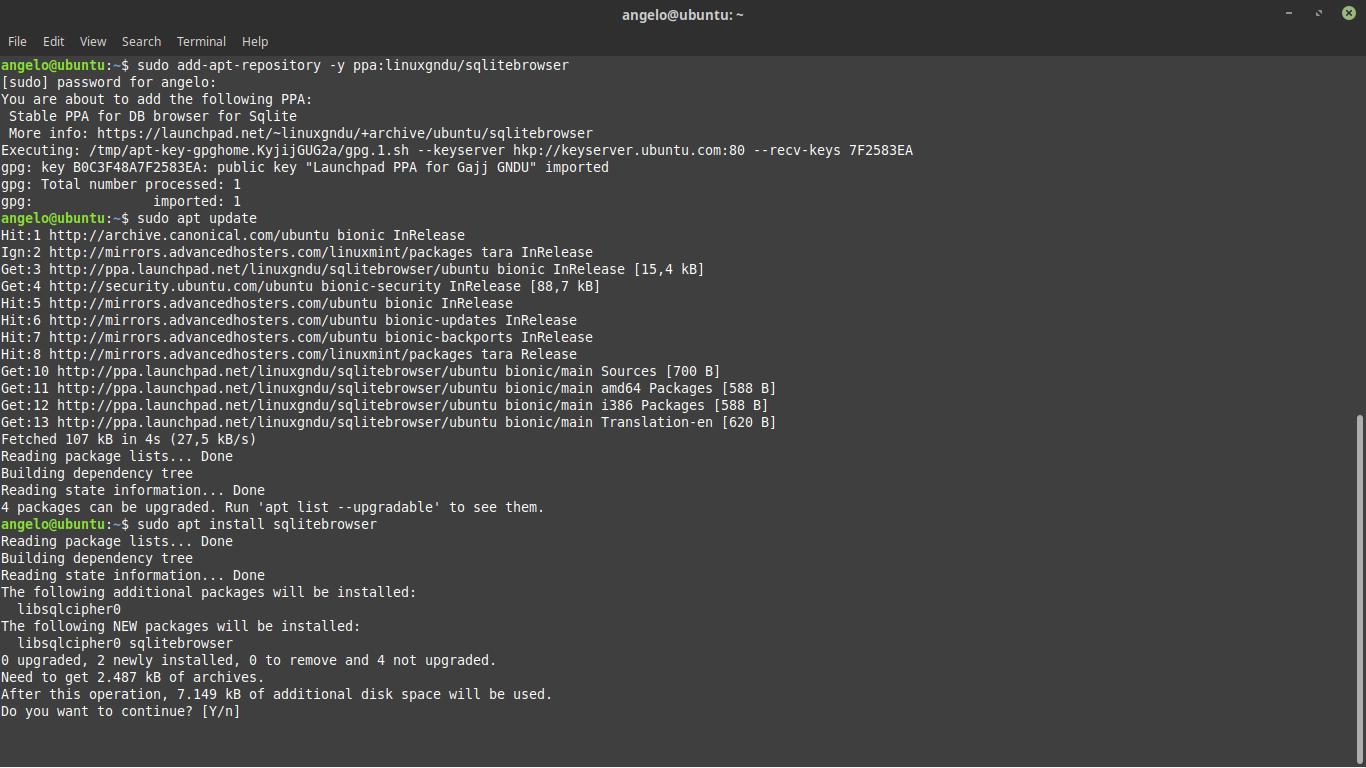 10.- Install SQLitebrowser
