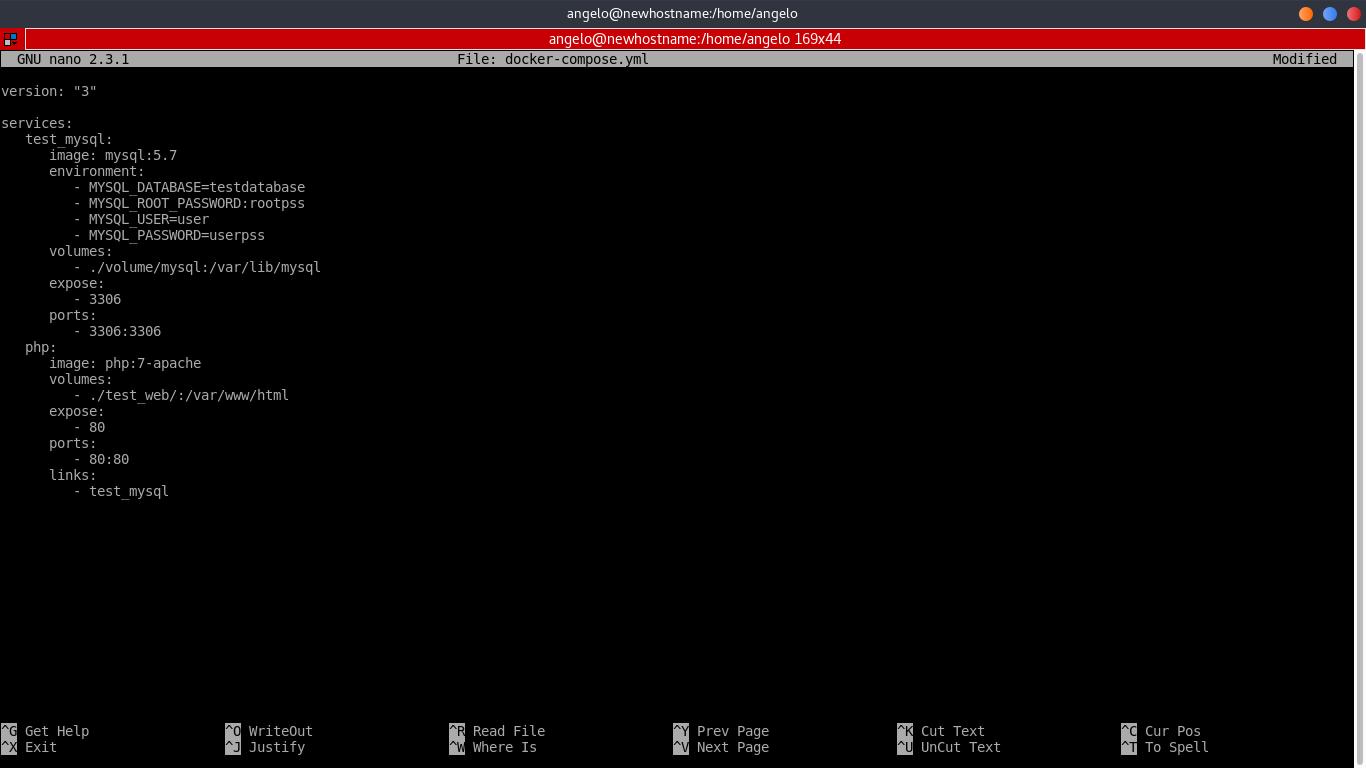 3.- Creating the docker-composer yml file