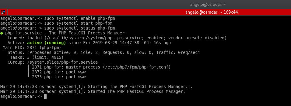 6.- Start php-fpm