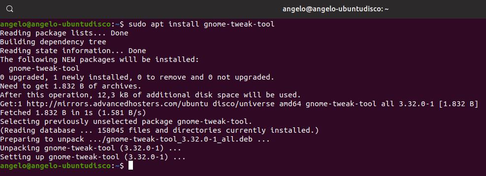 6.- Install gnome tweak tool
