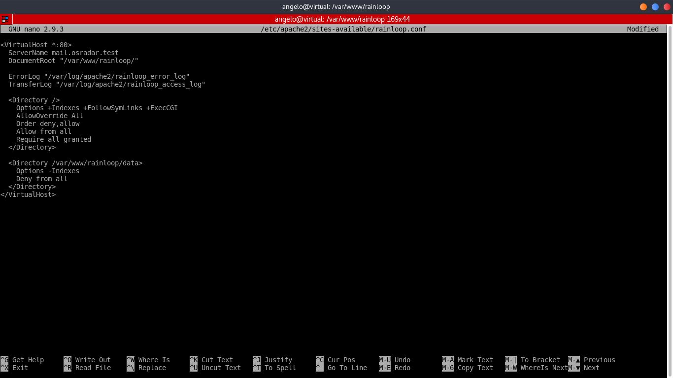 7.- Creating a new virtual host for RainLoop