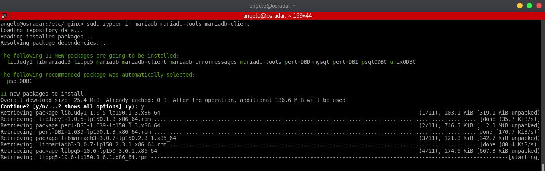 8.- Install MariaDB