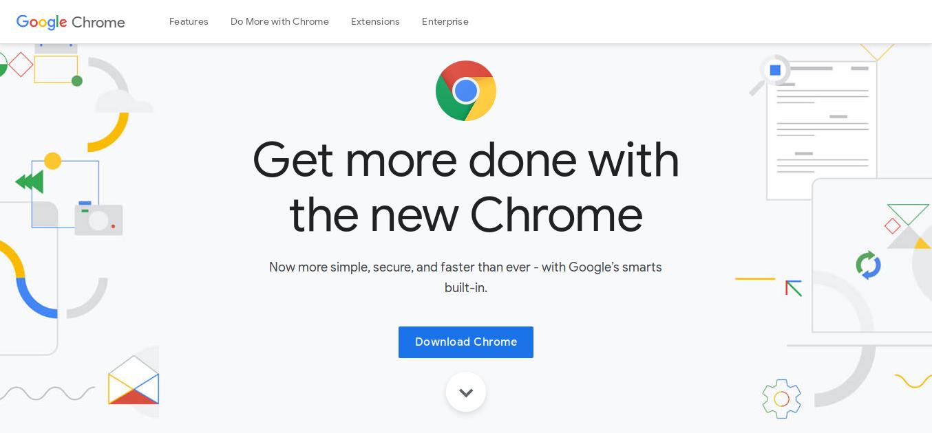 1.- Google Chrome web site