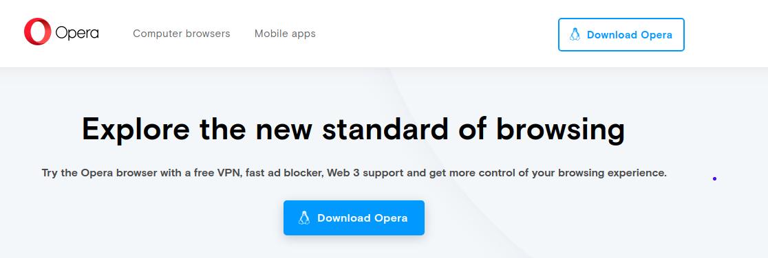 1.- Opera Web browser
