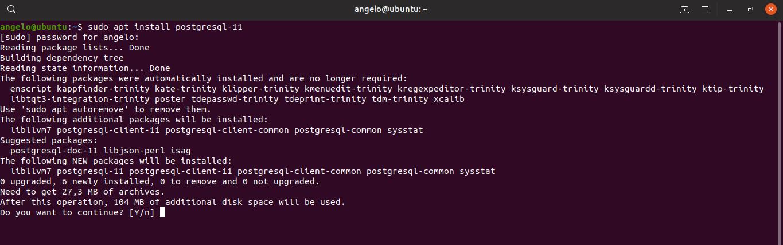 1.- Install PostgreSQL on Ubuntu 19.04