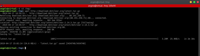 2.- Download Dotclear on Ubuntu 18.04