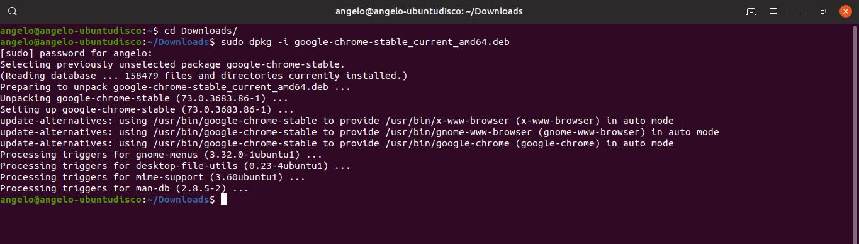 3.- Install Google Chrome on Ubuntu 19.04