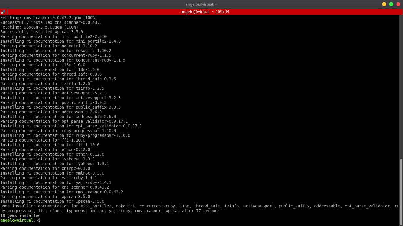 3.- Install WPScan on Ubuntu 20.04 / 18.04