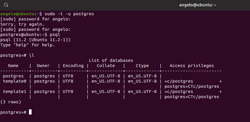 3.- List all databases