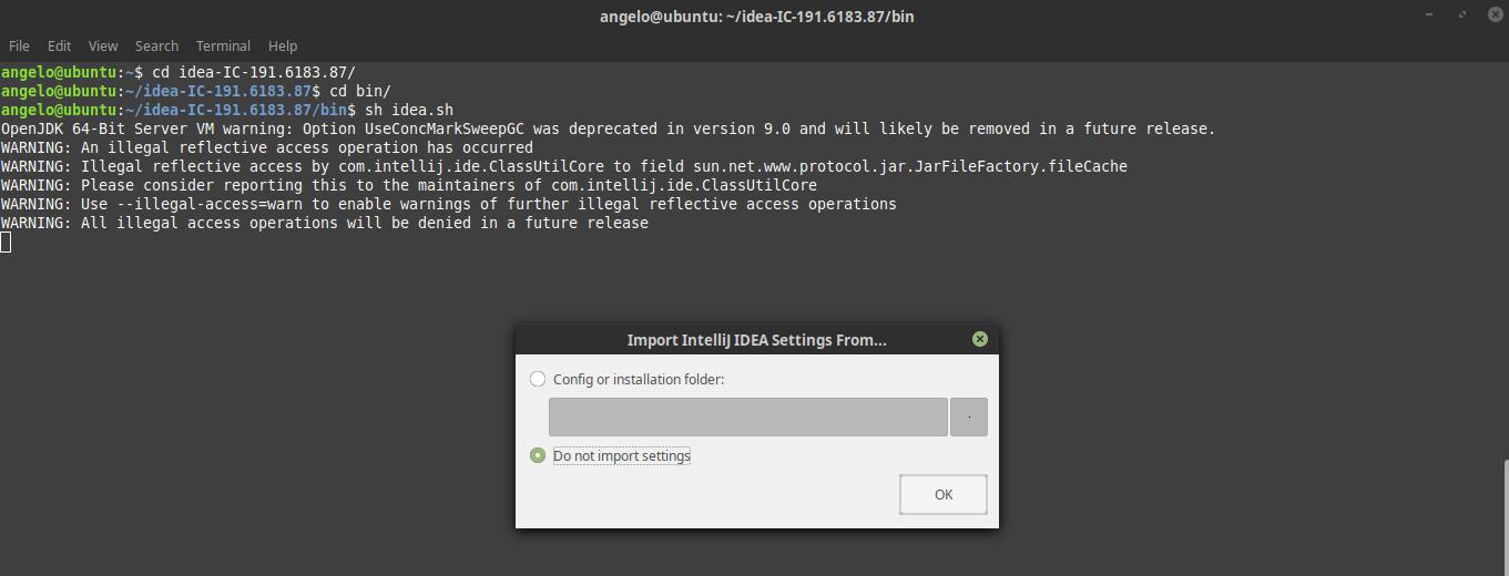 3.- Install IntelliJ IDEA on Ubuntu 18.04
