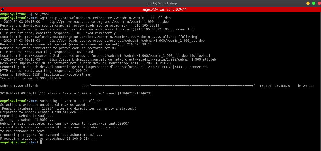 3.- Install Webmin on Ubuntu 18.04