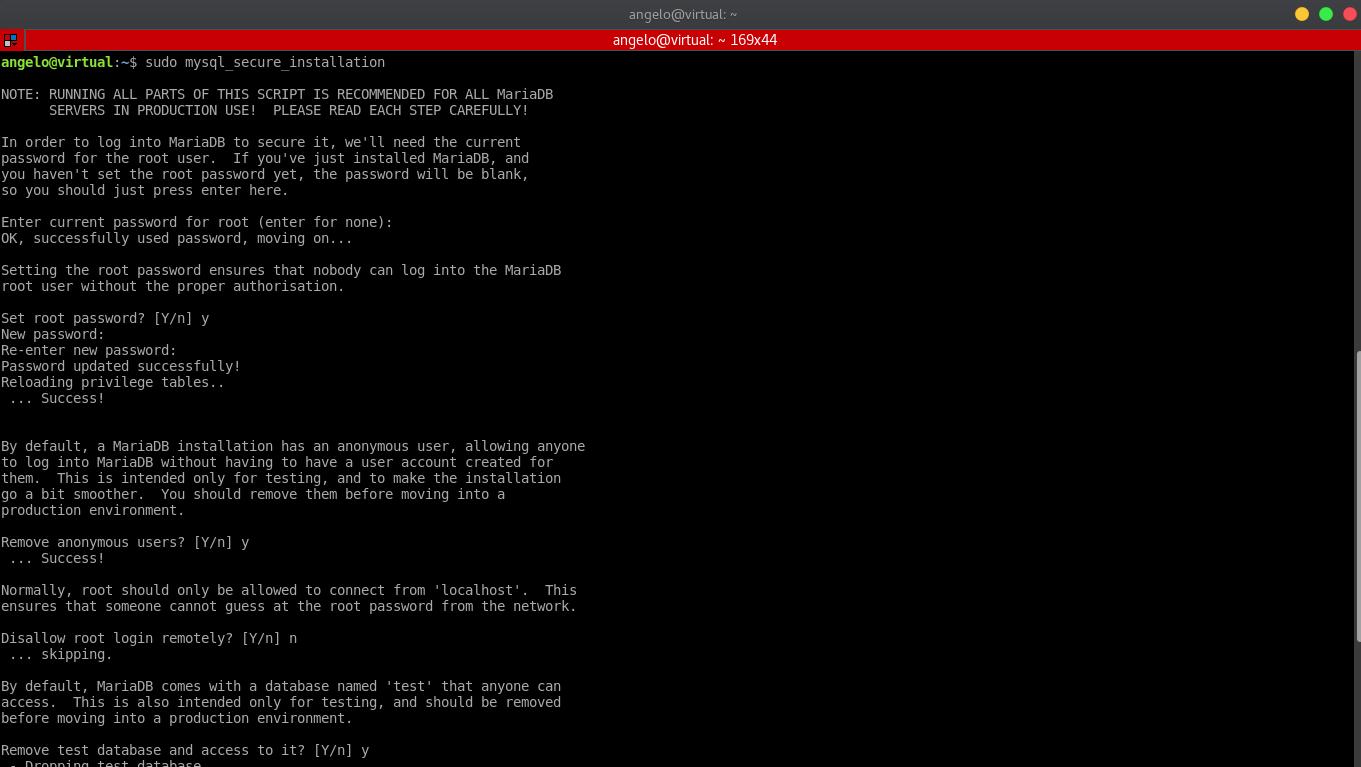 5.- Mysql_secure_installation script