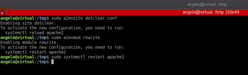 5.- Restarting Apache