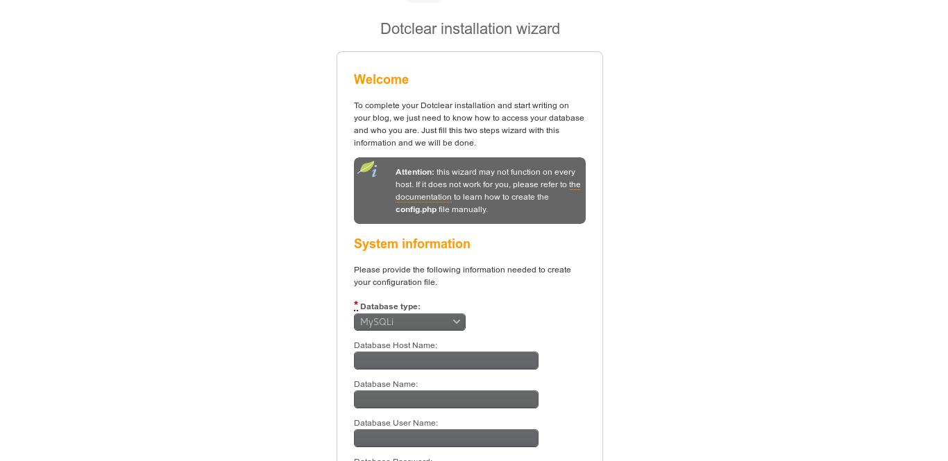6.- Install Dotclear on Ubuntu 18.04