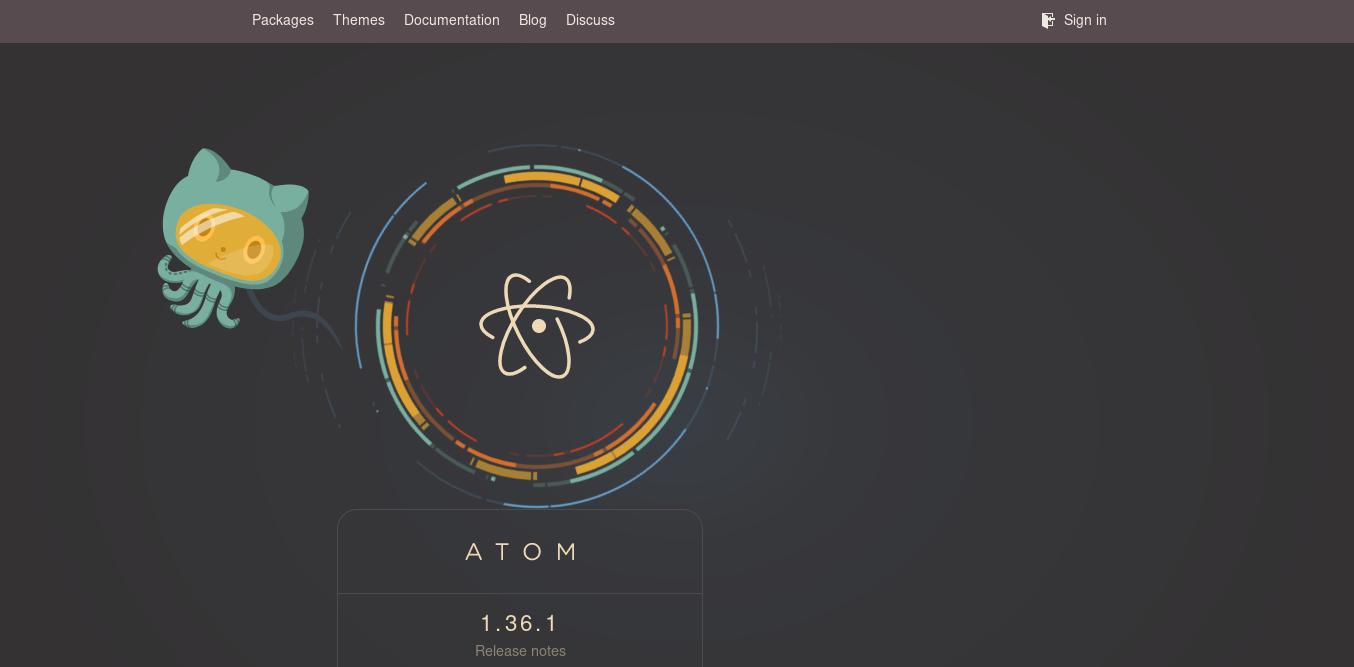 1.- Atom website
