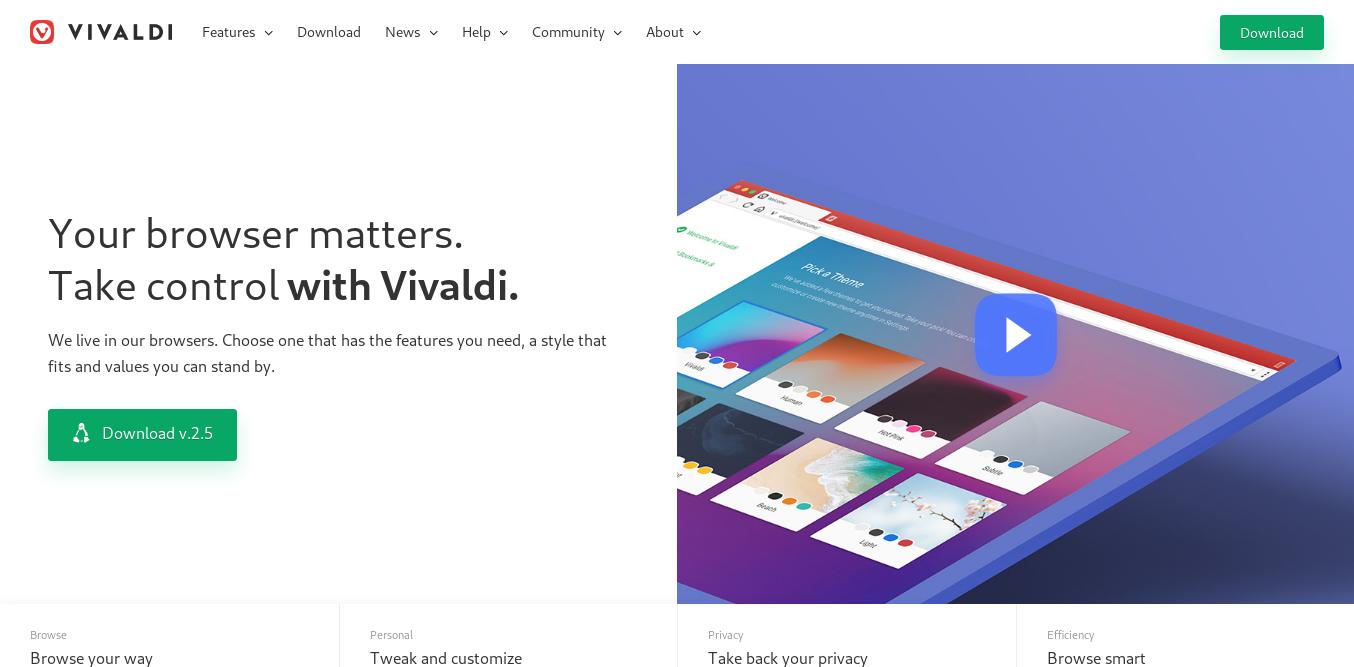 1.- Vivaldi web site