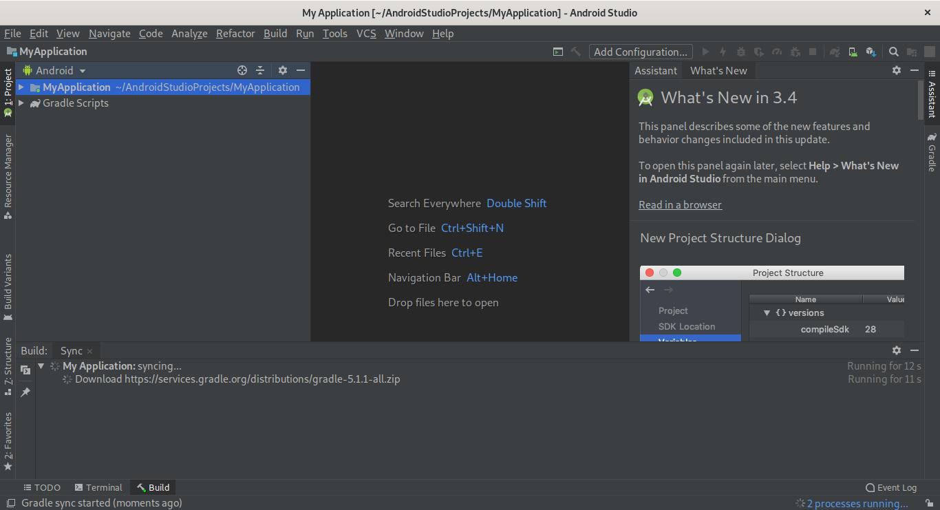 10.- Android Studio on Fedora 30