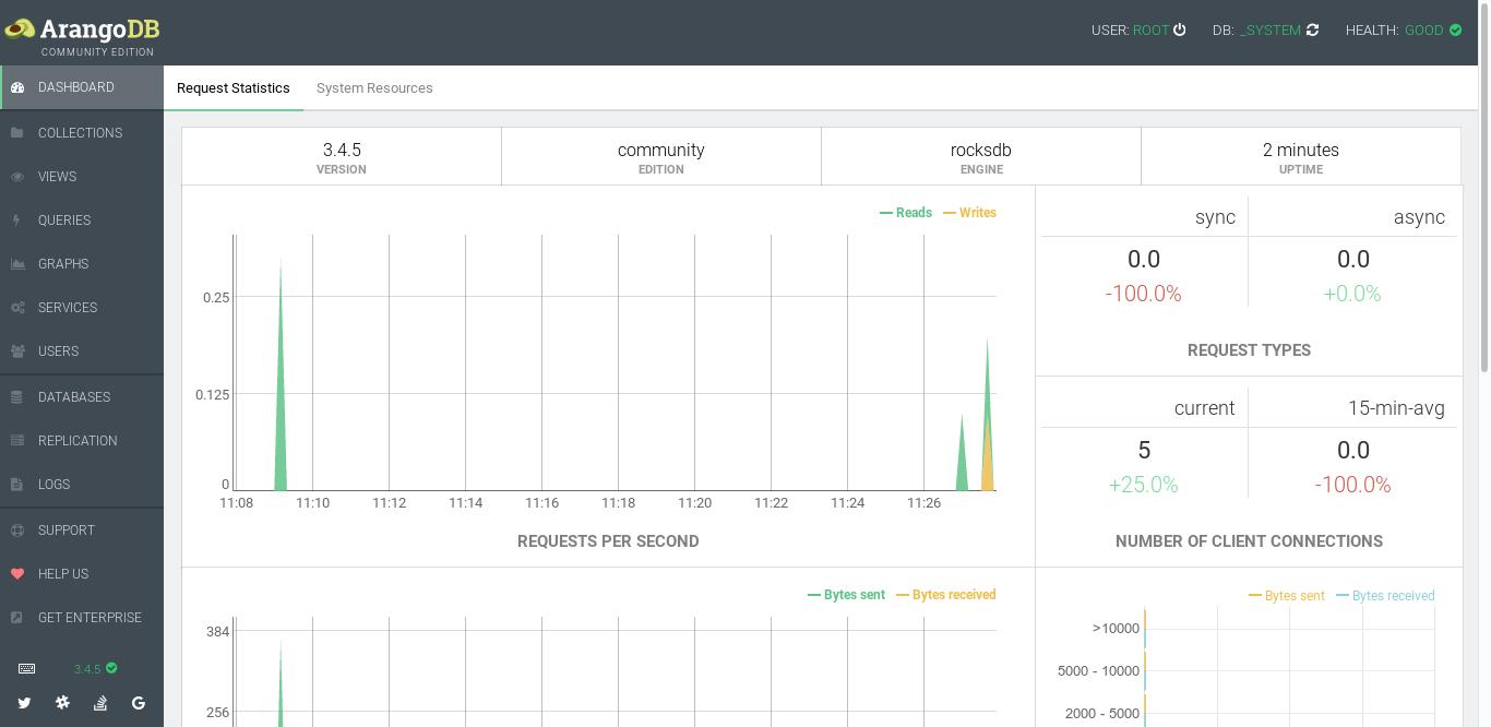 10.- ArangoDB web interface