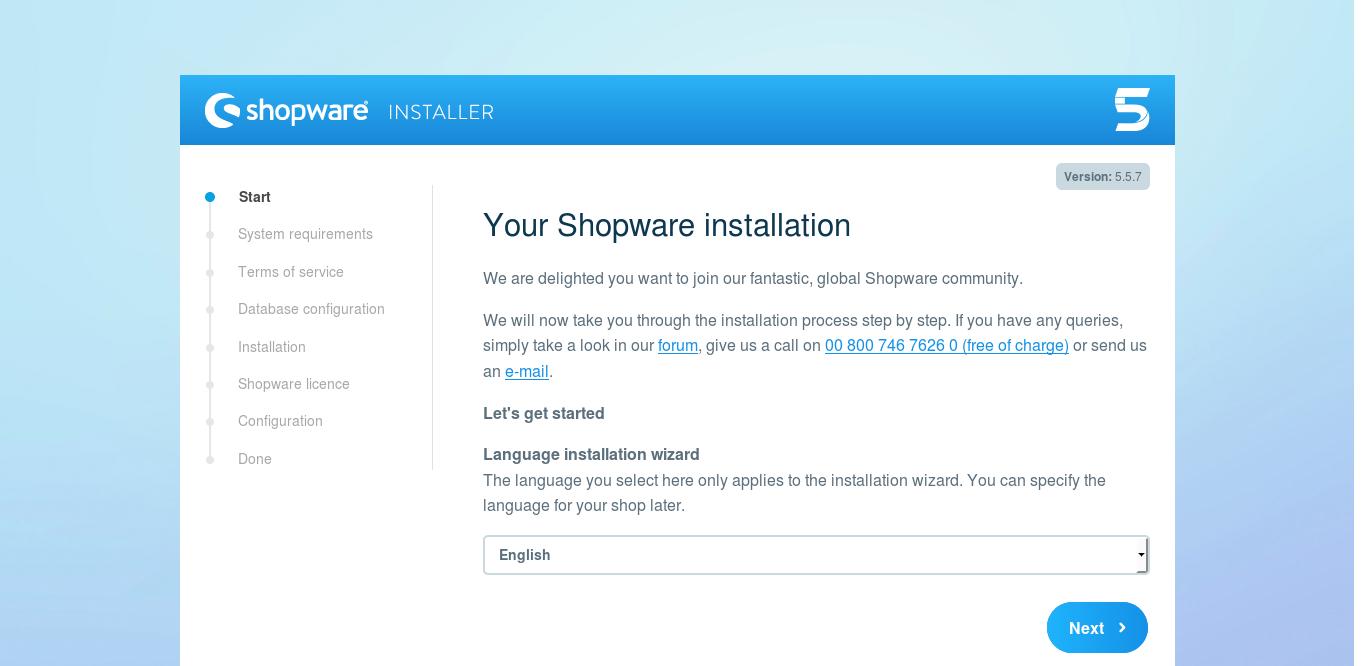 13.- Start the Installation