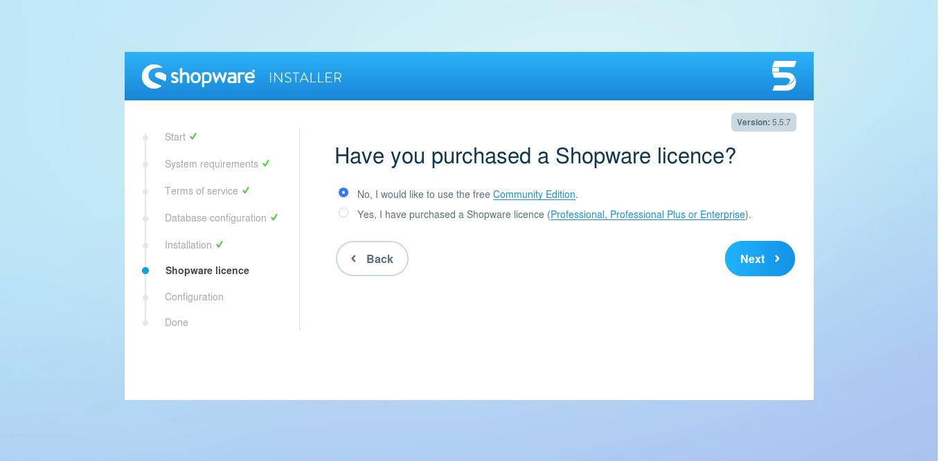 19.- Shopware license