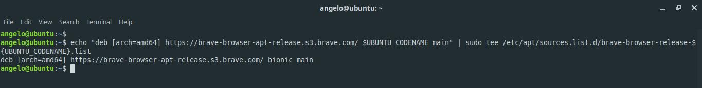 2.- Add the Brave repository