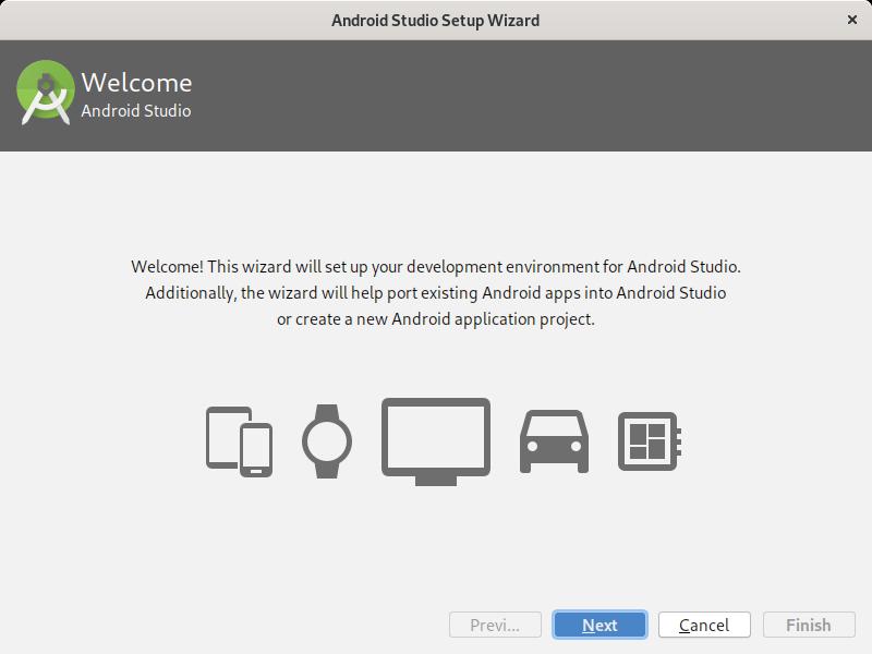 3.- Android studio setup wizard