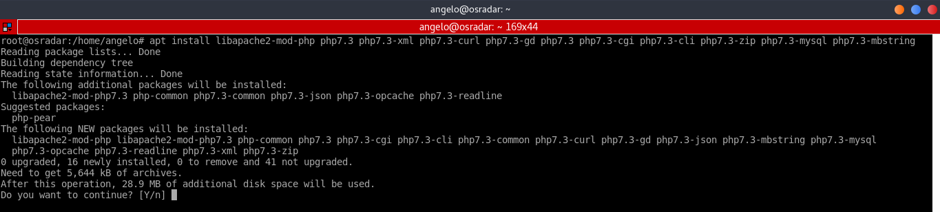 3.- Install PHP 7.3