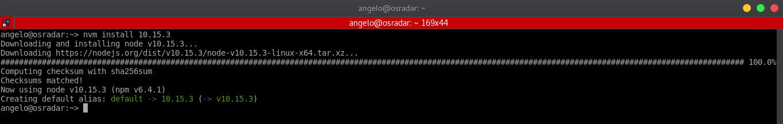 4.- Install NodeJS on OpenSUSE using NVM