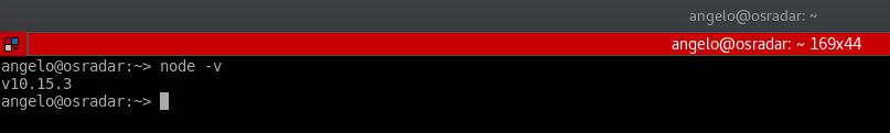 5.- NodeJS on OpenSUSE