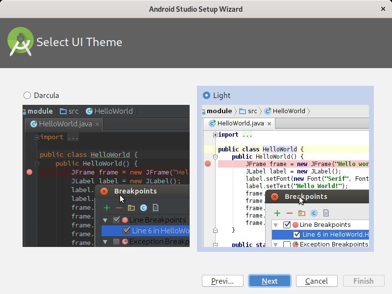 5.- Select UI theme
