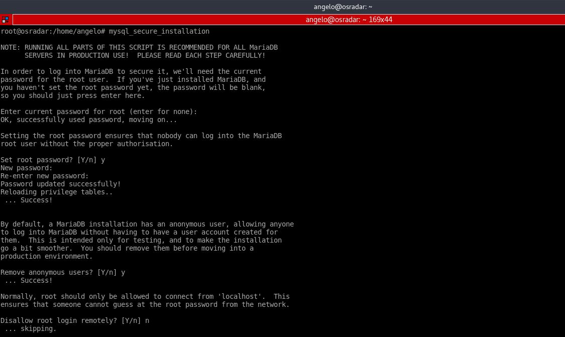 7.- Configuring MariaDB
