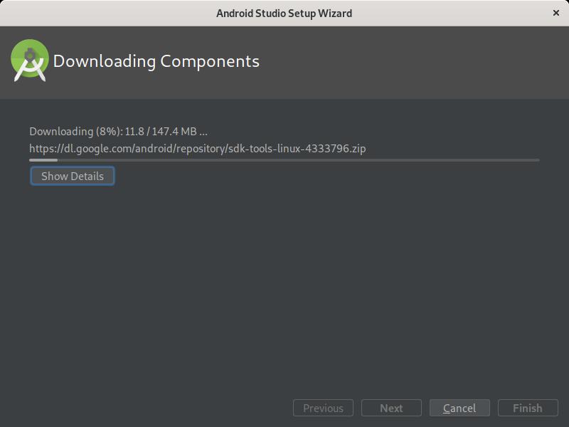7.- Installing Android Studio on Fedora