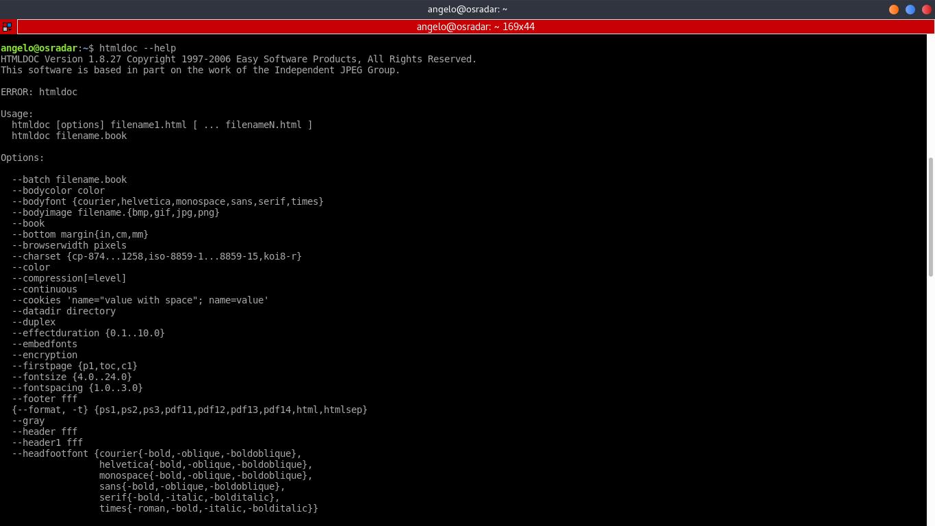 1.- HTMLDoc help