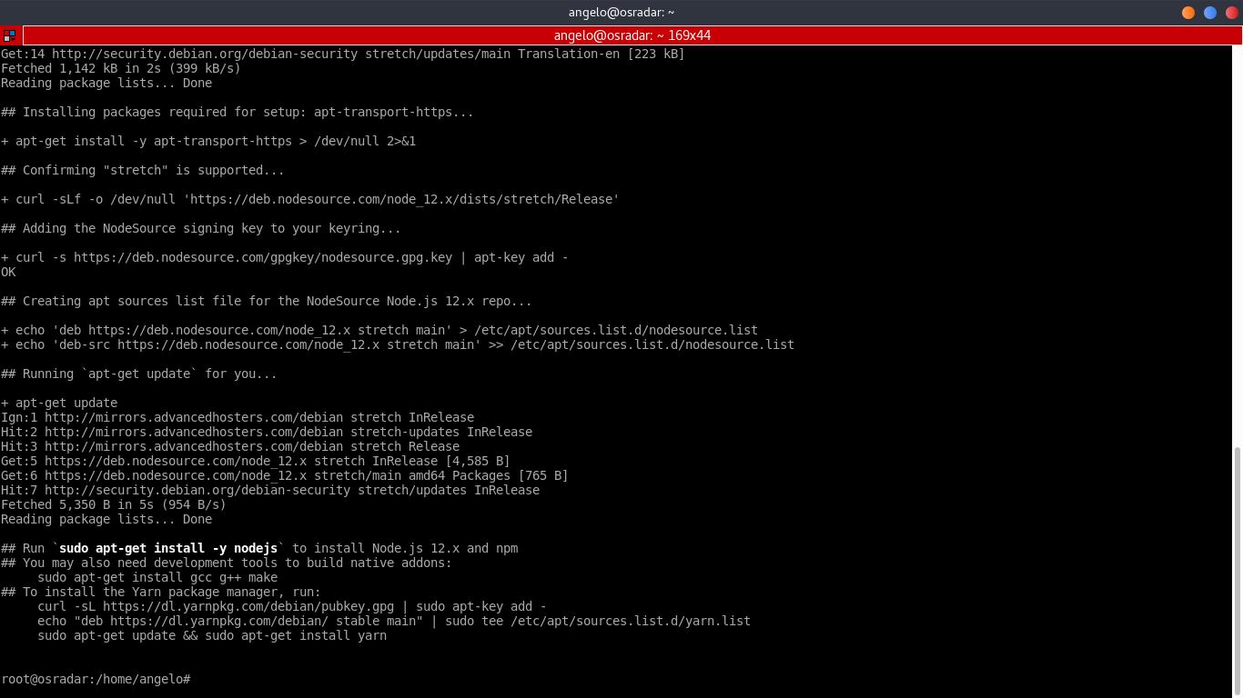 1.- Add the NodeJS repository