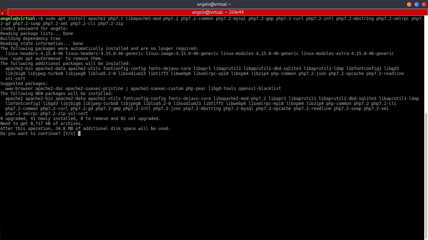 1.- Install Apache and PHP on Ubuntu 18.04
