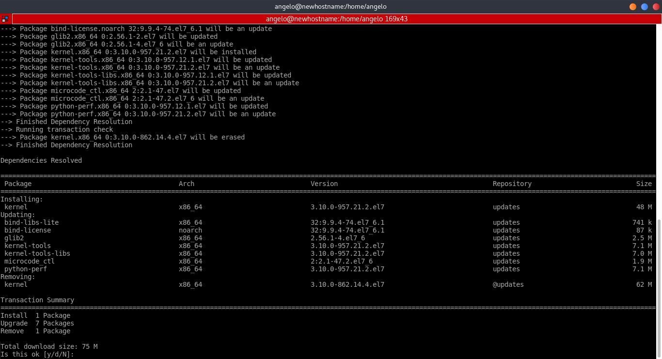1.- Upgrade CentOS 7