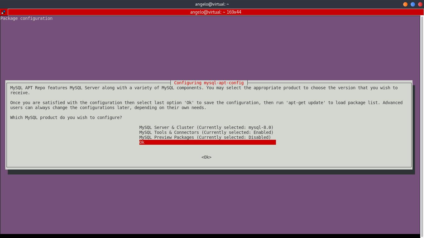 1.- Configure MySQL APT repository