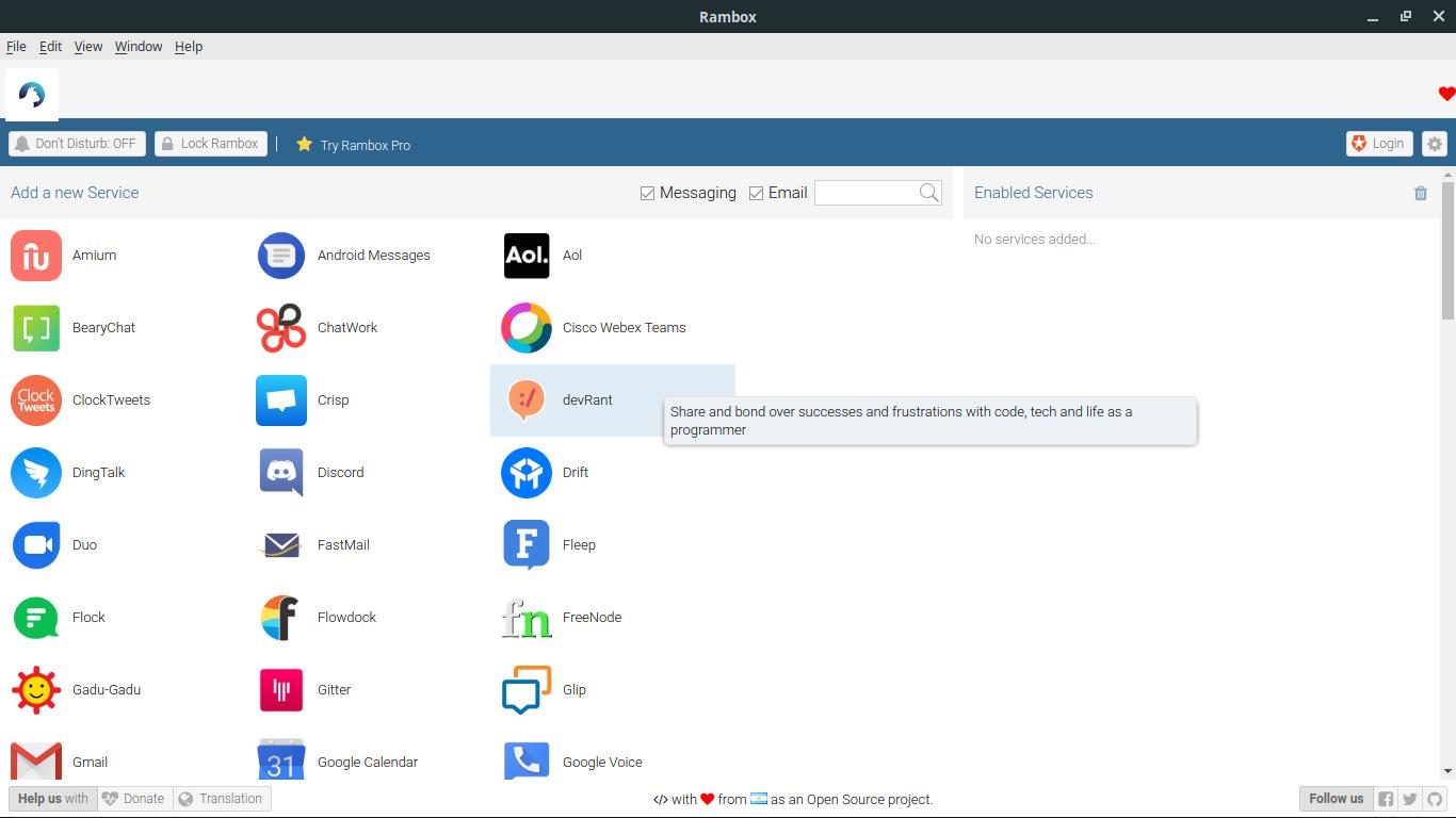 1.- Rambox an extraordinary app for ubuntu