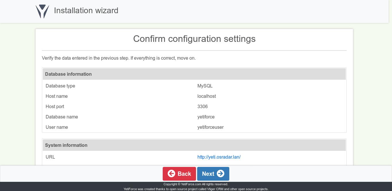 10.- Configure Yetiforce on CentOS 7