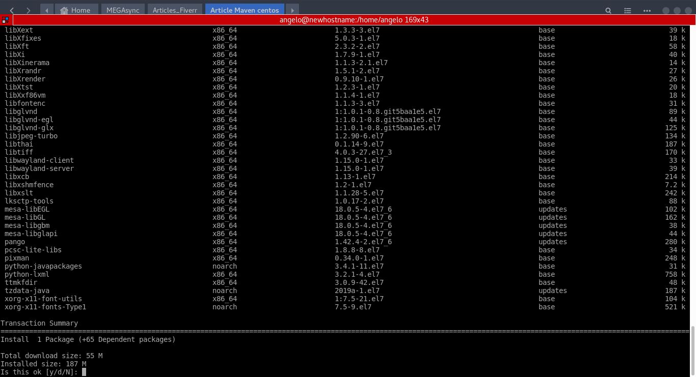 2.- Install Java on CentOS