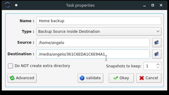 3.- Task Properties