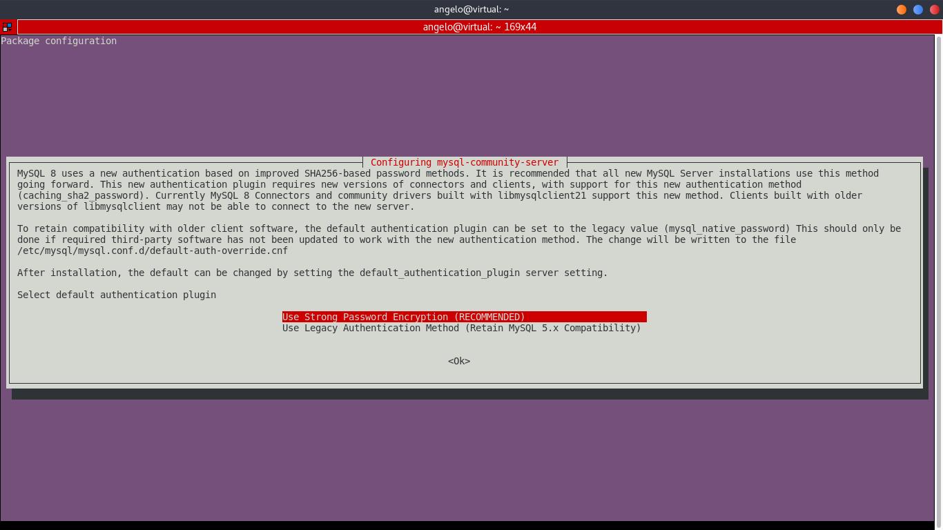 3.- Configure MySQL 8