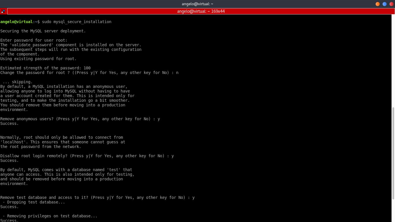 4.- Secure MySQL 8 installation