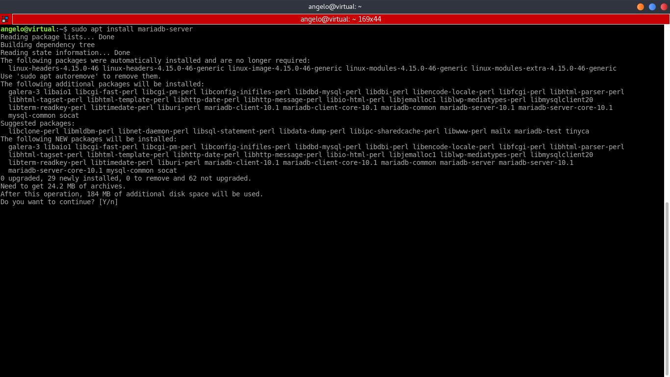 4.- Install MariaBD on Ubuntu 18.04