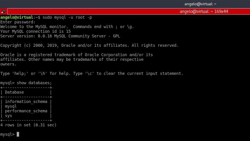 5.- Test MySQL installation