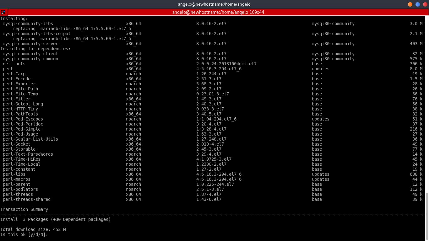 5.- Install MySQL 8 on CentOS 7
