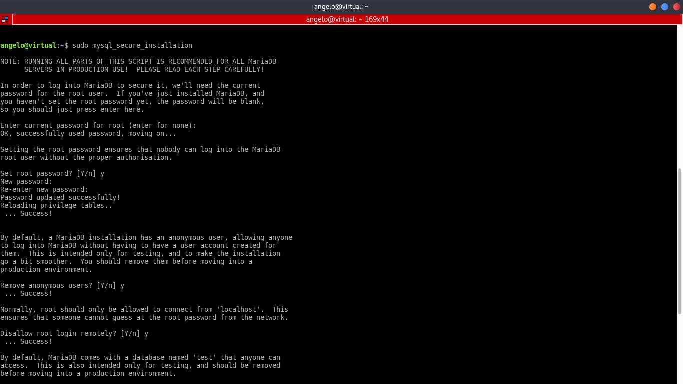 5.- Using mysql_secure_installation script