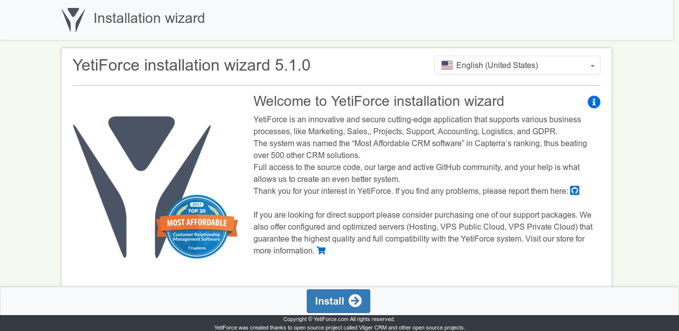 7.- Install Yetiforce on CentOS 7