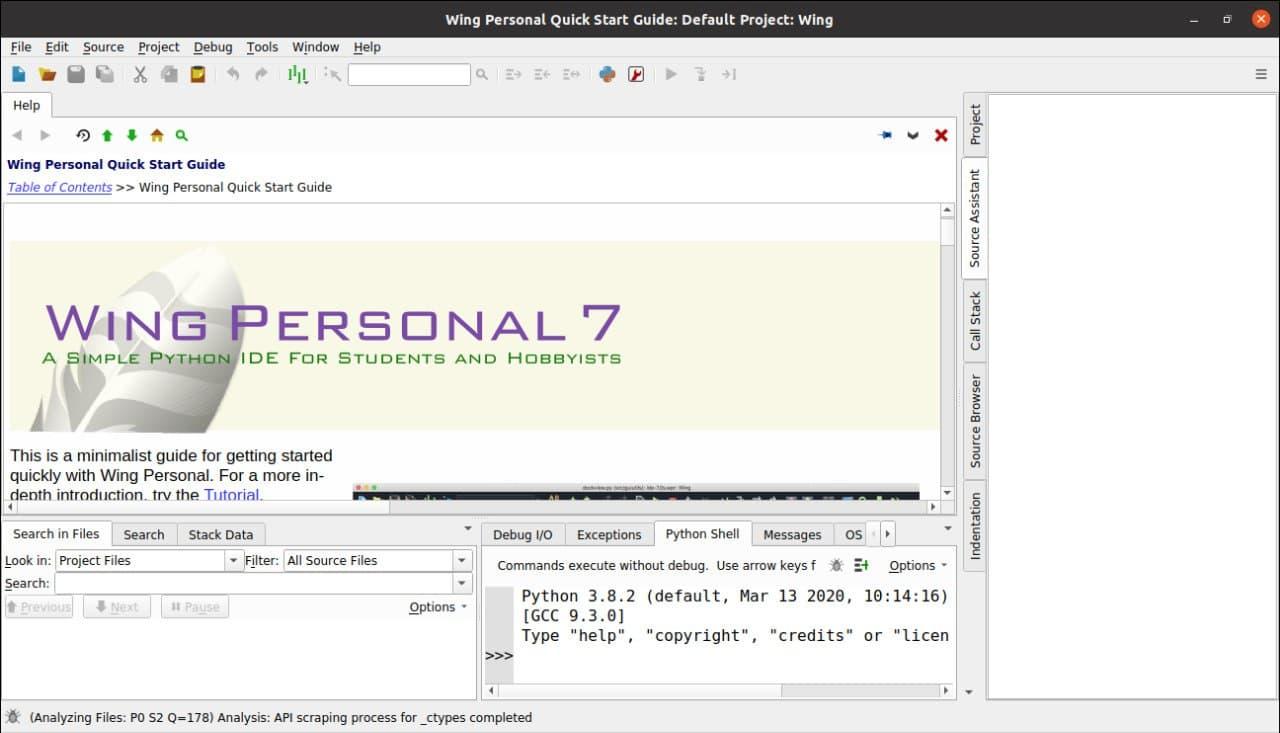 1.- Wing running on Ubuntu 20.04 / 18.04